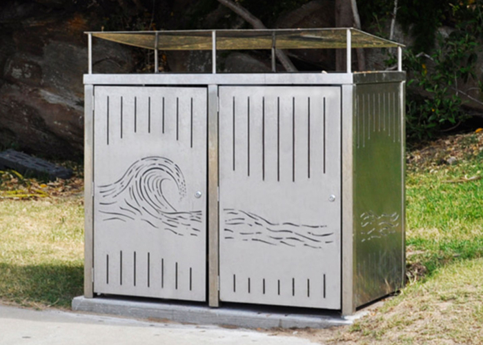 Frame Bin Enclosure Street Furniture Australia
