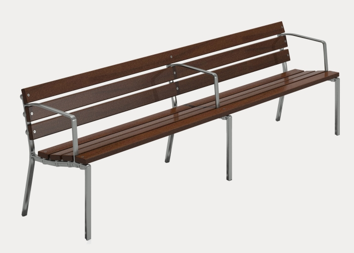 Forum 4-seater, FS7, Eco-certified Hardwood Battens, Precious Silver Finish