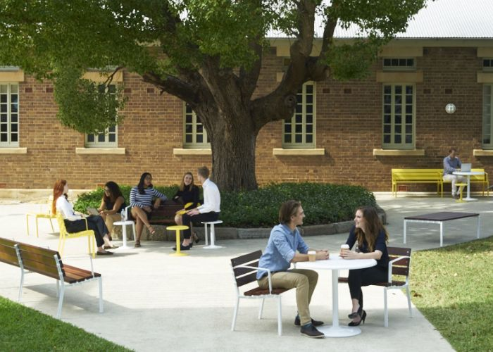 Socialise with Forum seats by Street Furniture Australia