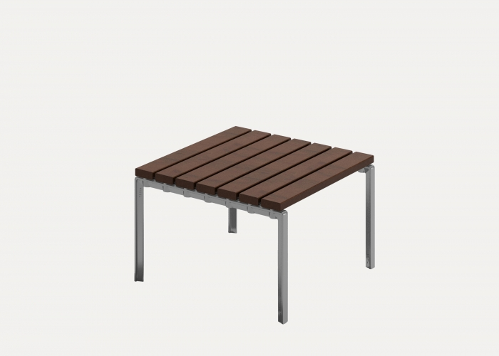 Forum Low Table 660mm, FT7, Eco-certified Hardwood Battens, Precious Silver Frames