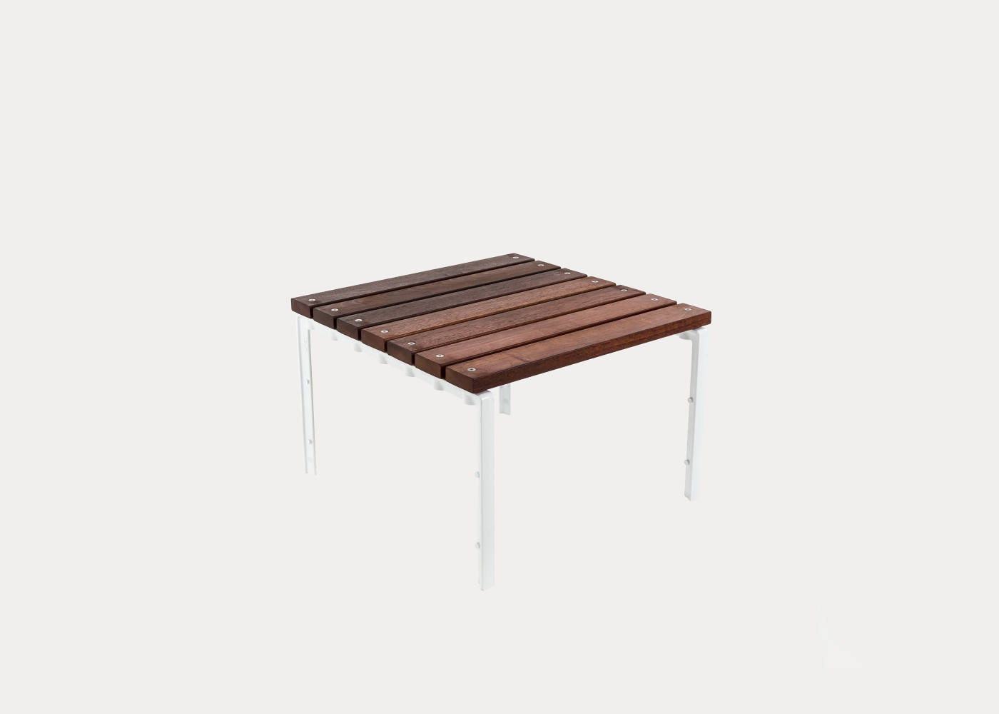 Forum Low Table 660mm Ft7 Eco Certified Hardwood Battens Pearl White Frames