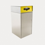 Escola Bin Enclosusre 240L, WBE-E240, Recycling Insert in Yellow
