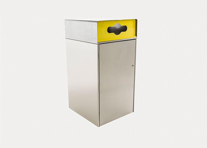Escola Bin Enclosusre 240L, WBE-E240, Recycling Insert in Yellow
