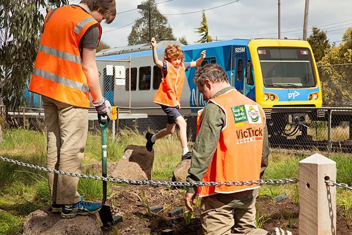 Beautifying the path to commute. Merri Station. Photo: Marie Contraire Photography.