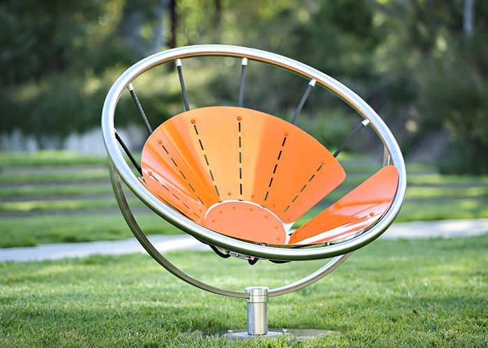 Flower Chair, FC1, powder coated in Sensation Orange
