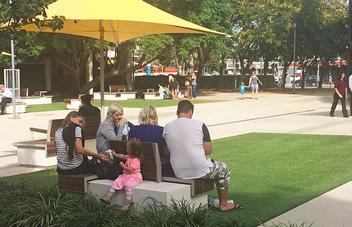 The community enjoying the space. Photo: Karin Schicht, Penrith City Council.