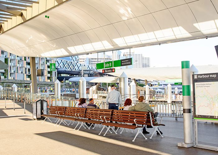 Barangaroo Ferry Hub, Street Furniture Australia