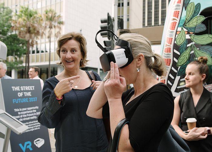 Virtual reality envisioning the future of Circular Quay. Photo: WE-EF.
