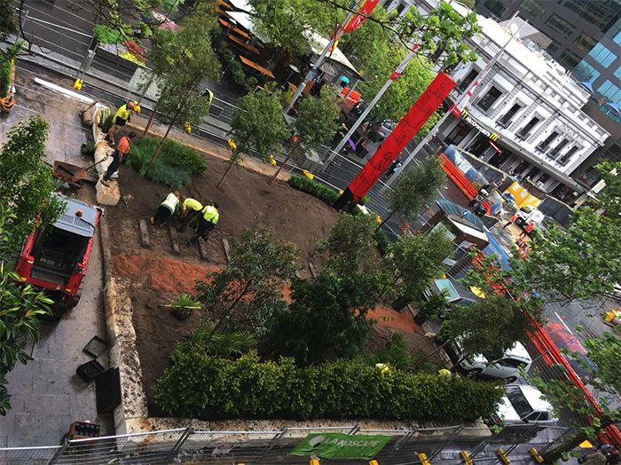 Future Street construction in progress. Photo: Place Design Group.