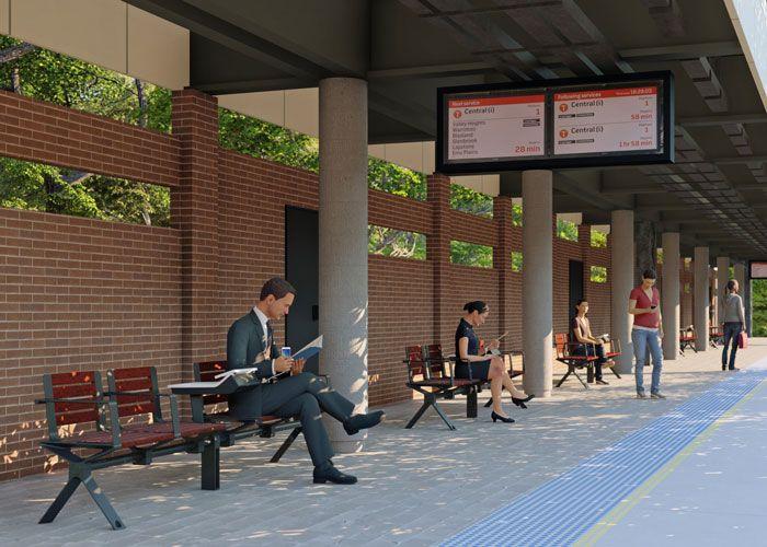 Aria Transit Seat by Street Furniture Australia