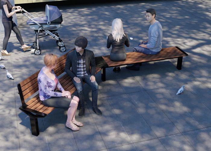 Aria Curved Seat by Street Furniture Australia