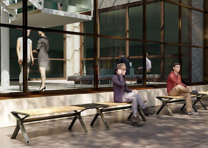 Aria Bench by Street Furniture Australia
