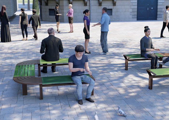 Aria Curved Bench by Street Furniture Australia