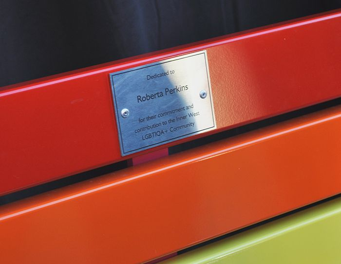 Pride Seat Dedicated to Roberta Perkins