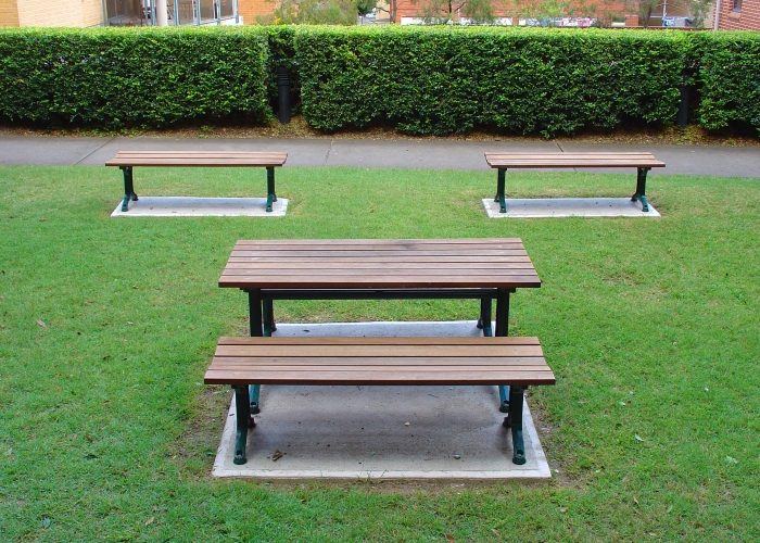 Park Benches And Setting