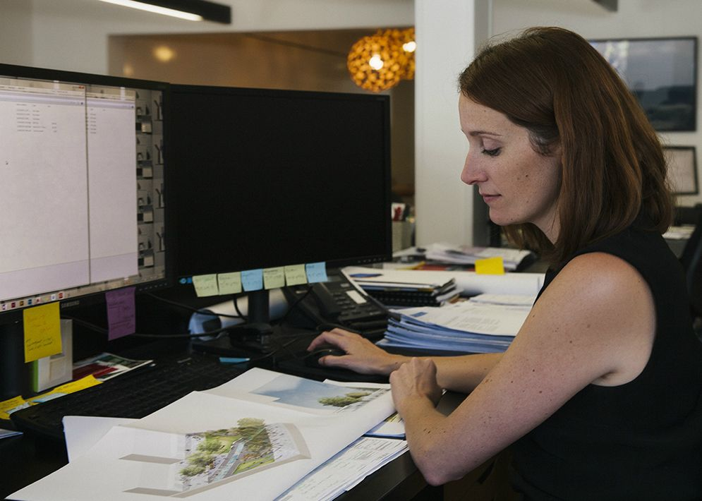 Claire Broun, senior landscape architect with JMD Design. Photo: Anna Sinclair