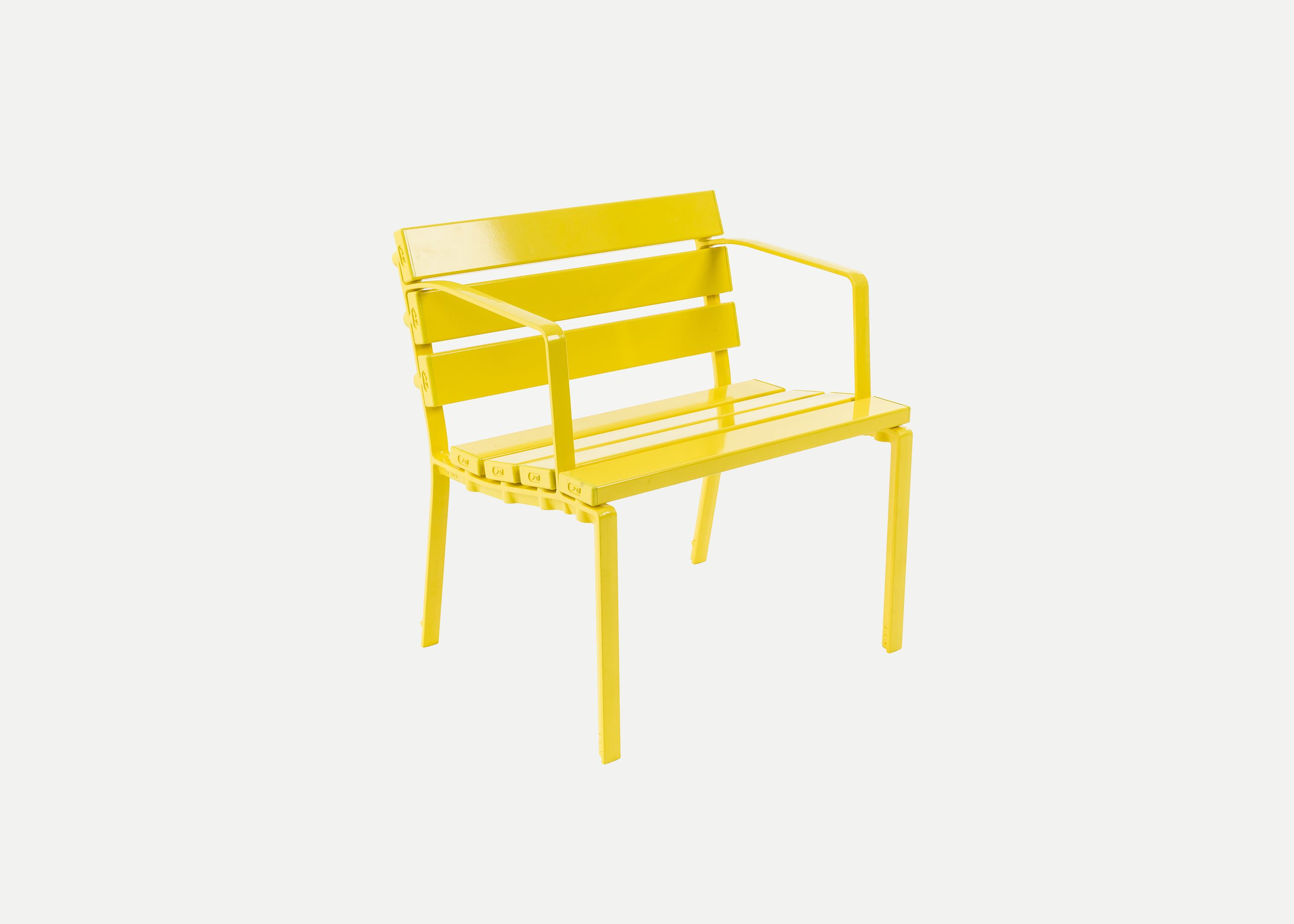 Forum 1-seater, FS7, Brilliant Yellow Battens and Frames