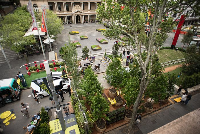 An aerial view from Circular Quay Station. Photo: Ross Mills.