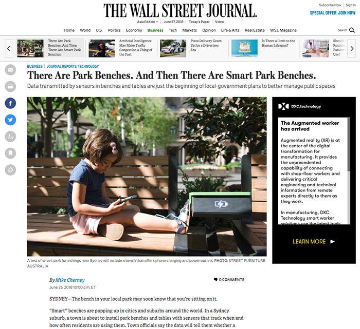 Wall Street Journal, Street Furniture Australia article-sc