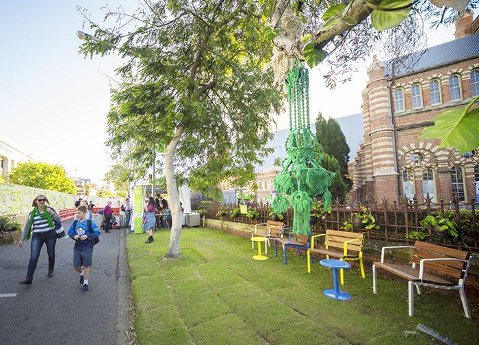 Street Furniture Australia, Forum, Ekka, Green The Street