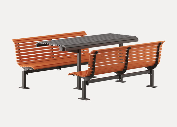 Classic Plaza DDA Setting with Classic Plaza DDA Seat and Table.