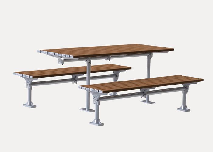Mall DDA Setting with Mall DDA Table CMM605-DDA and Slim Bench CMM805-DDA.