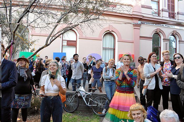 Crowd Unveiling Pride Seat-sc