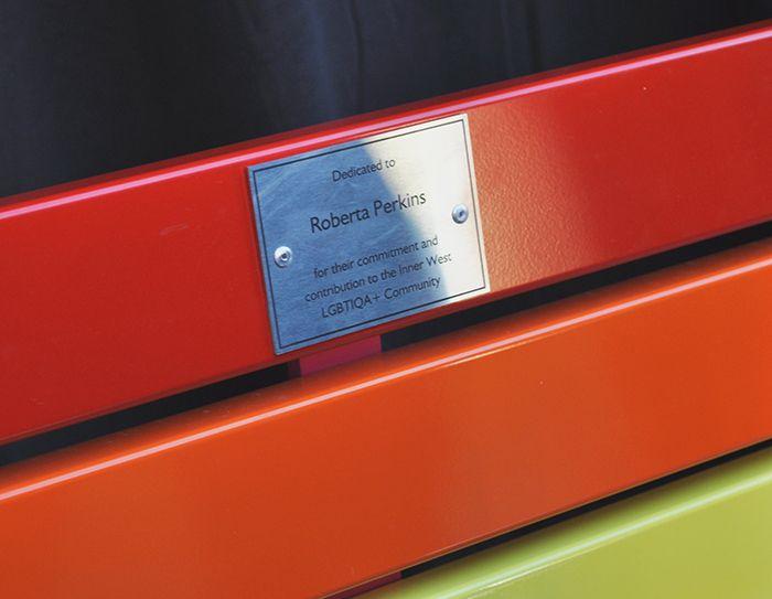Pride Seat Dedicated to Roberta Perkins