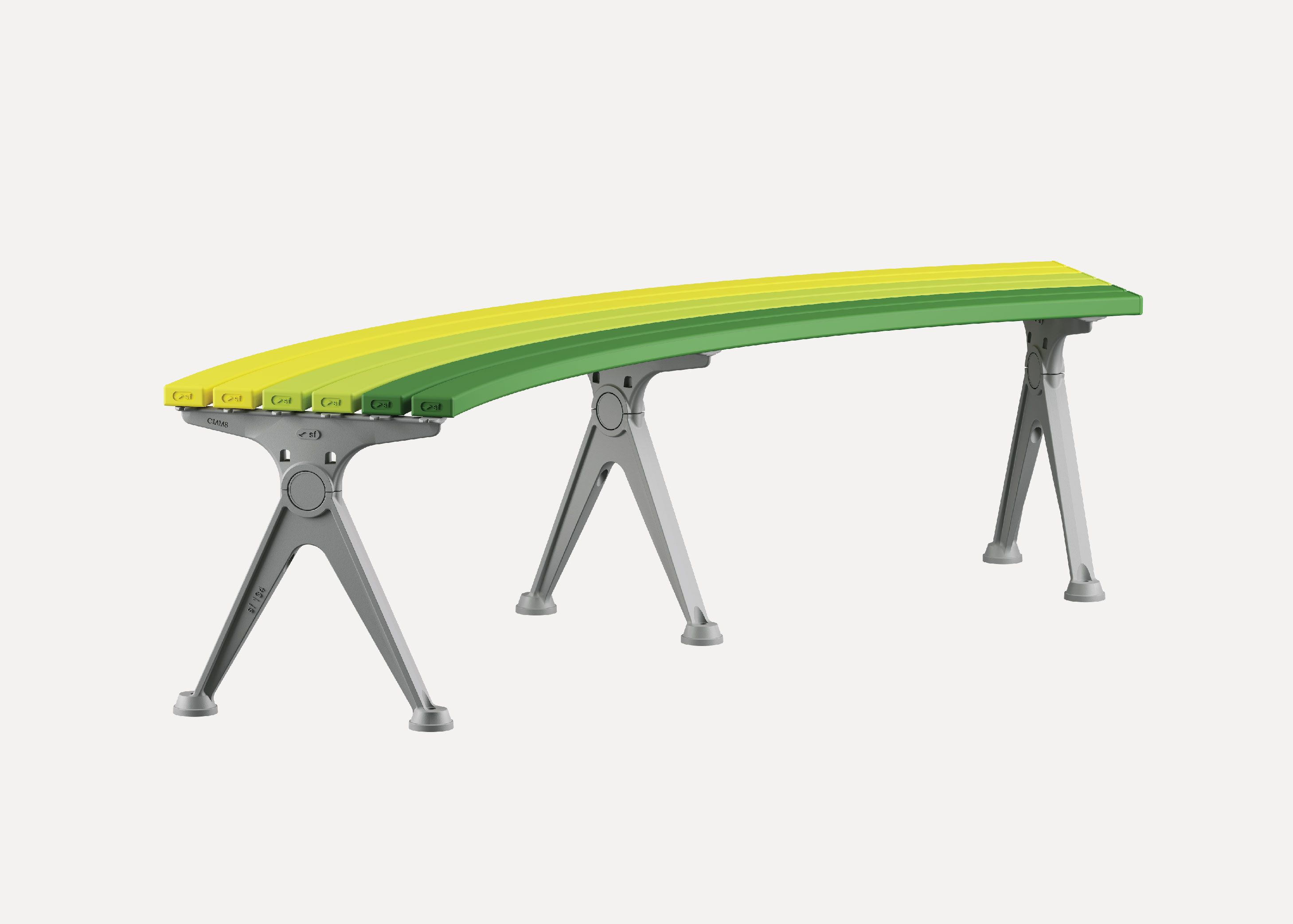 Picture of: Mall Curved Slim Bench Street Furniture Australia