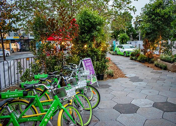 Lime e-bikes at Future Street.