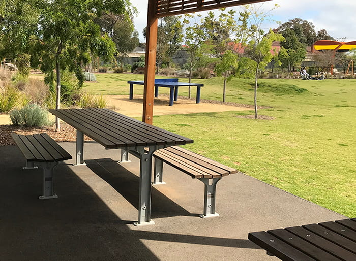 Park Setting, wheelchair accessible.