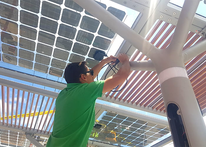 Installing solar panels at the Mortdale ChillOUT Hub.